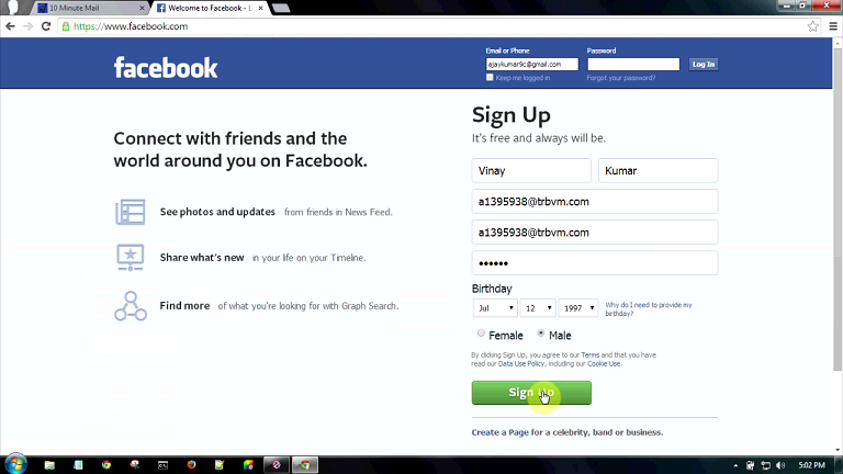 Make Fake Fb Account In 1 Min Without Mobile And Email A2z
